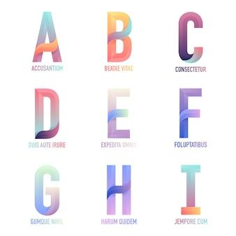 Brief-vektor-logo-vorlagen für ihr unternehmen