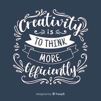 Briefgestaltung mit kreativitätszitat Premium Vektoren