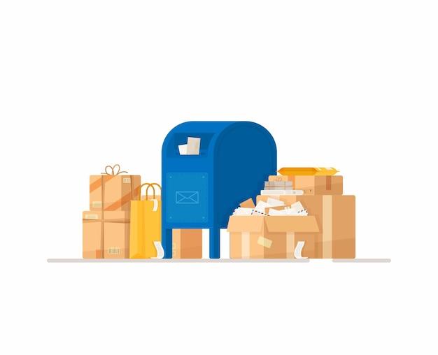 Briefkasten mit paketabbildung