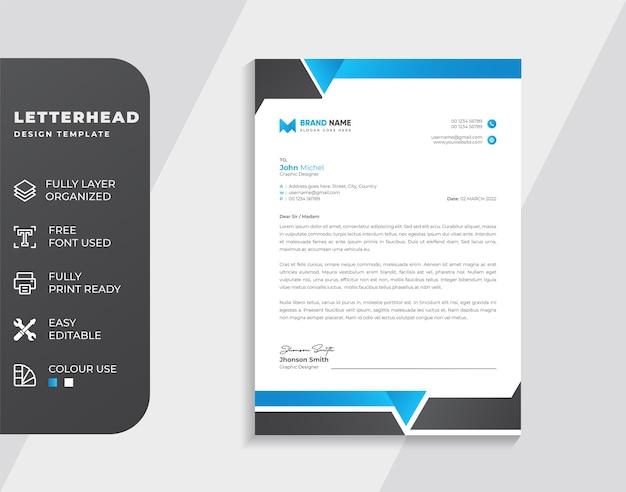 Briefkopf-designvorlage für unternehmen