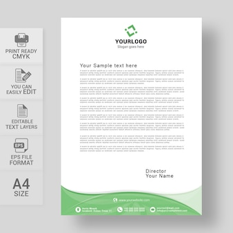 Briefkopf designvorlage für unternehmen