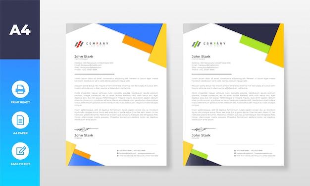 Briefkopf-entwurfsvorlage für firmenunternehmen