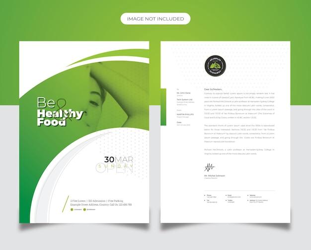 Briefkopf für gesundheit und wellness