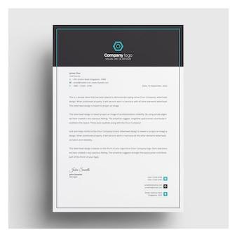 Briefkopf vorlage mit aquamarin details