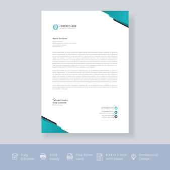 Briefkopf-vorlagendesign modern creative