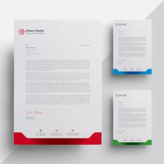 Briefkopf Premium Vektoren