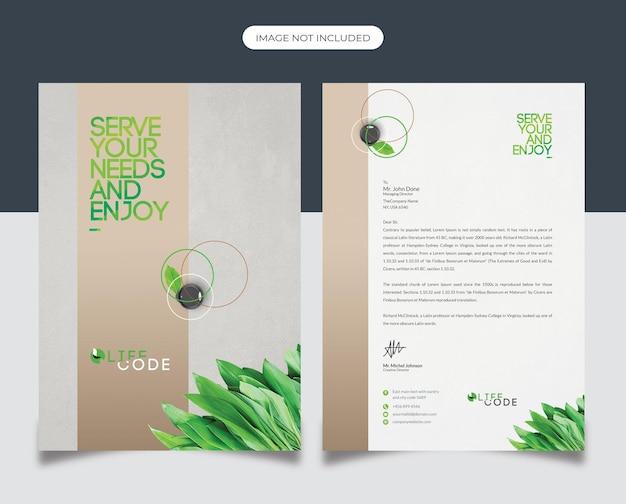 Briefkopfdesign für unternehmen