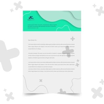 Briefkopfvorlage des marketinggeschäfts