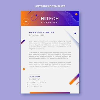 Briefkopfvorlage für abstrakte technologie mit farbverlauf