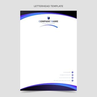 Briefkopfvorlage für immobilien mit farbverlauf