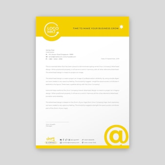 Briefkopfvorlage für marketingunternehmen