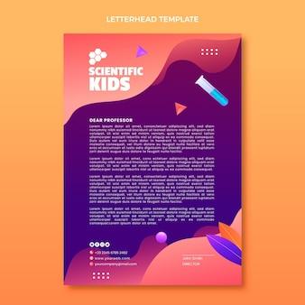 Briefkopfvorlage für wissenschaft mit farbverlauf