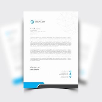Briefkopfvorlage mit blauen details