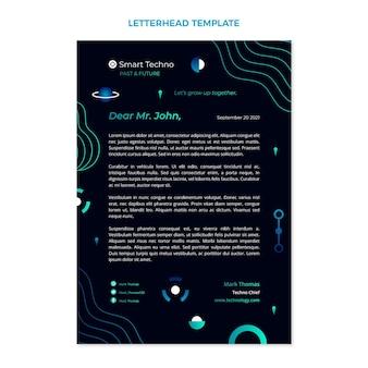 Briefkopfvorlage mit farbverlaufstechnologie