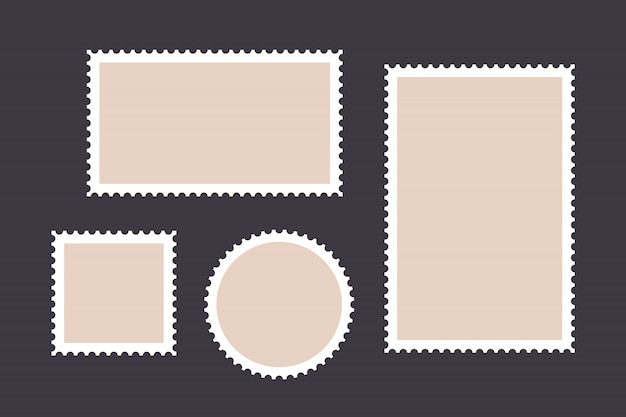 Briefmarke. satz briefmarke