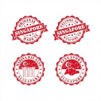 Briefmarke willkommen in der singapore design collection