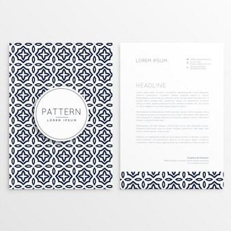 Briefpapier-abdeckung schablone broschüre