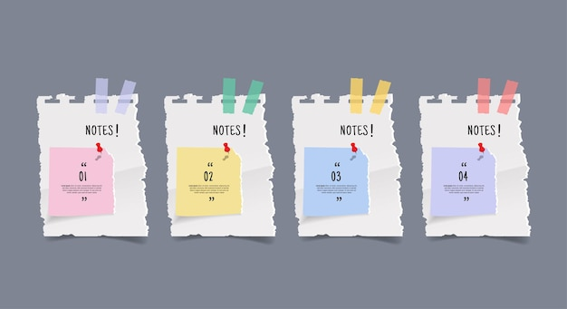 Briefpapier-aufkleber-banner-set