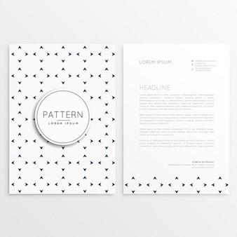 Briefpapier design mit minimalen muster