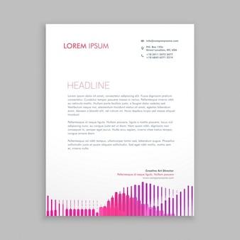Briefpapier design mit rosa streifen