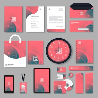 Briefpapier-design-set im vektorformat