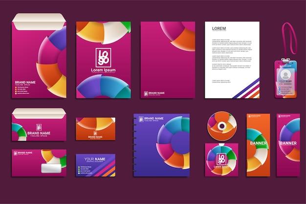 Briefpapier mockup-set für die markenidentität des unternehmens