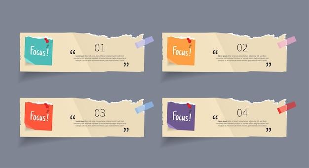 Briefpapier-stricker-banner-set