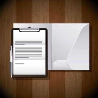 Briefpapier vorlage business branding broschüre und stift