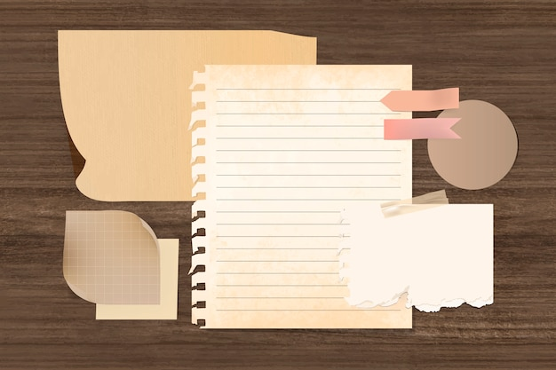 Briefpapier-vorlagensatz