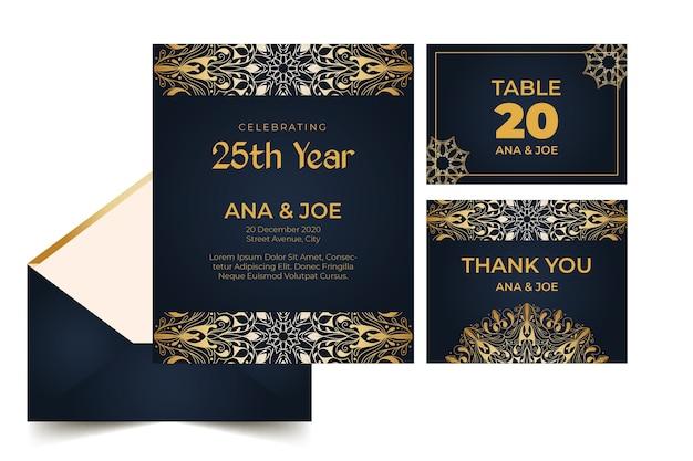 Briefpapierkollektion zum 25-jährigen jubiläum
