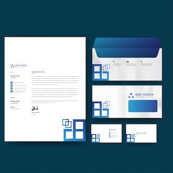 Briefpapiervorlage für unternehmensidentität