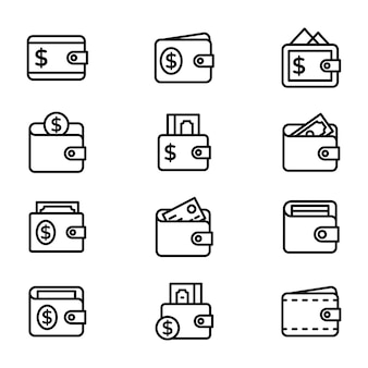 Brieftasche icons pack