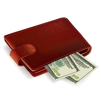 Brieftasche mit geld gefüllt