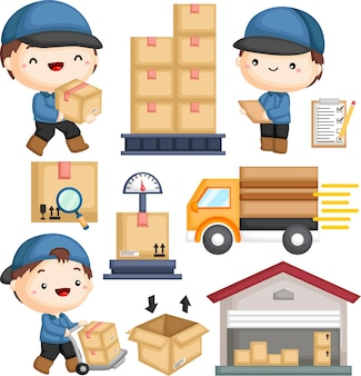 Briefträger lieferung paket