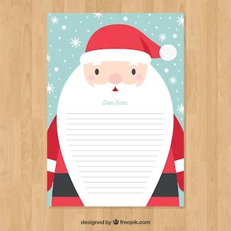 Briefvorlage mit weihnachtsmann