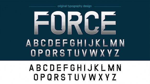 Bright chrome benutzerdefinierte typografie