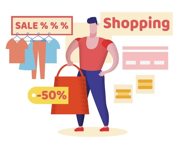 Bright flyer shopping sale prozent schriftzug.