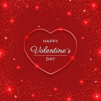 Brillantes valentinstag herz