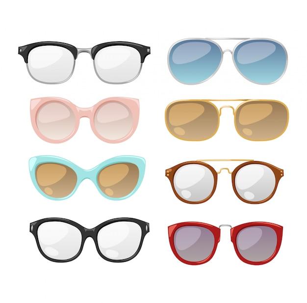 Brille auf weißem hintergrund.
