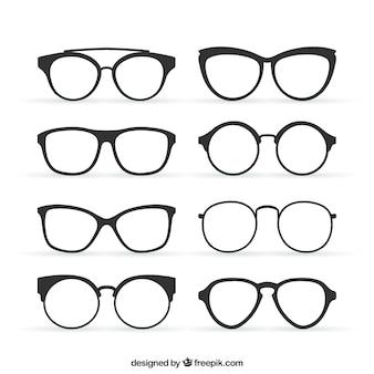 Brille im retro-stil