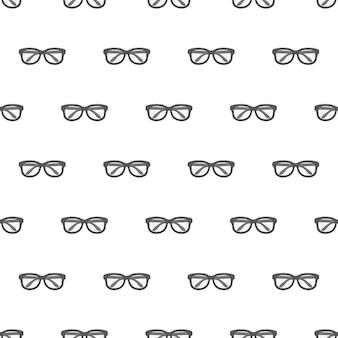 Brillen-nahtloses muster. schwarze brille thema illustration