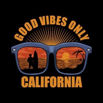 Brillen strand sonnenuntergang kalifornien