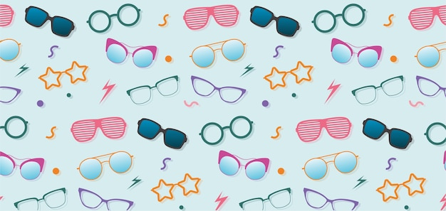 Brillen verschiedener modelle, muster