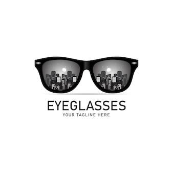 Brillenlogo, brillensymbol, illustration