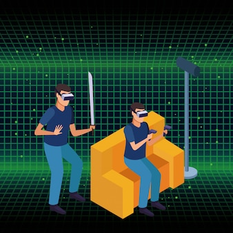 Brillentechnologie für menschen und virtuelle realität