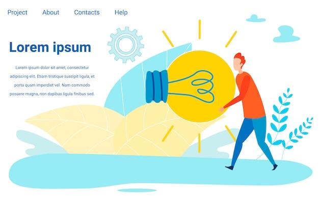 Bringen sie frische neue ideen auf die community landing page