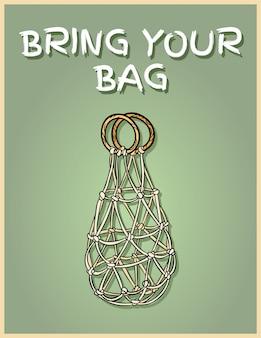 Bringen sie jeden tag ihre eigene tasche mit. motivationssatz.