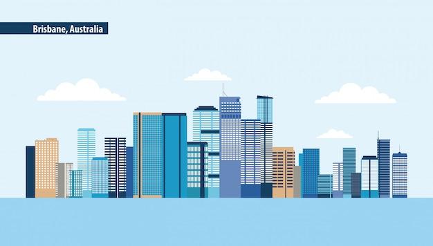 Brisbane australien skyline