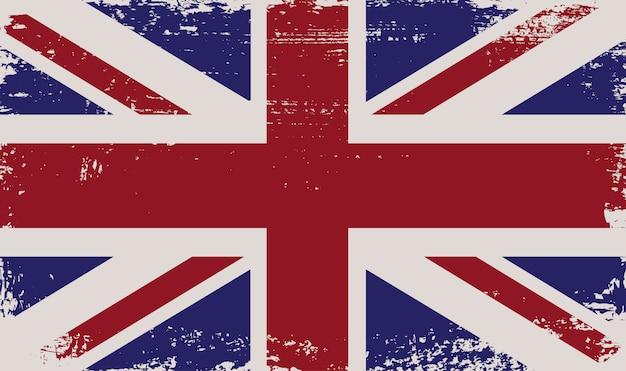 Britische grunge flagge