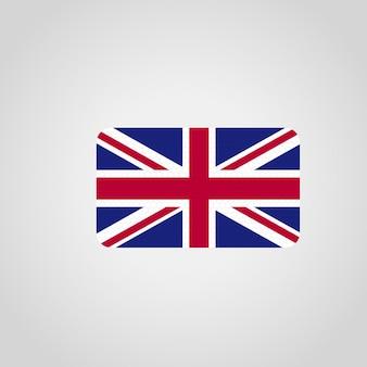 Britisches markierungsfahnendesign mit vektor der gerundeten ecken
